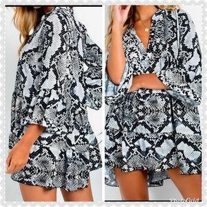 Dresses & Skirts - *JUST IN* snake print festival dress